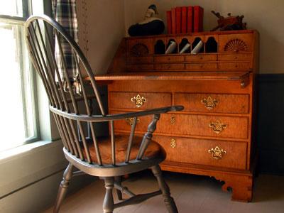 Slant Desk U0026 Windsor Chair